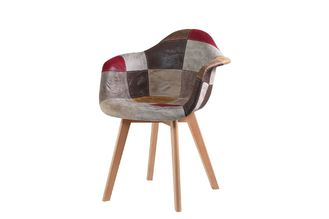 Practical Patchwork Armchair For Bedroom / Office / Kitchen / Living Room